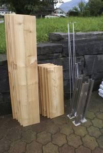 Ein Minimum an Bauteilen